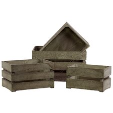 Wooden Storage Box, Set of Four (Set of 4)