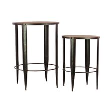 Wooden/Metal Table Set of Two (Set of 2)