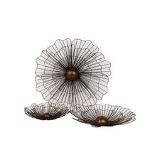 Metal Flowers Wall Decor (Set of 3)