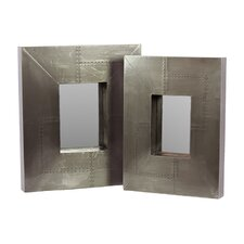 Wooden Frame Mirror (Set of 2)
