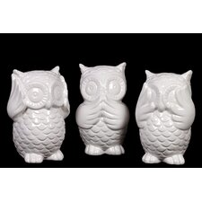 Ceramic Owl (Set of 3)