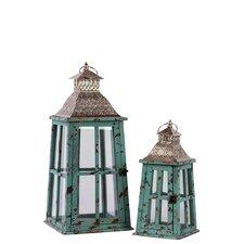 Wooden Lantern Set of Two