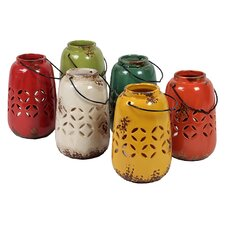 6 Piece Ceramic Lantern Set