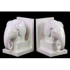 Ceramic Elephant Bookend (Set of 2)