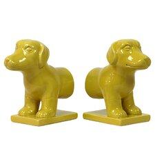 Ceramic Dog Bookend (Set of 2)
