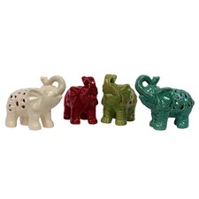 <strong>Urban Trends</strong> Ceramic Elephant Assortment of Four (Set of 4)