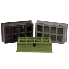 <strong>Urban Trends</strong> Wooden Cabinet (Set of 3)