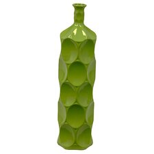 Green Ceramic Bottle