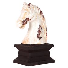 <strong>Urban Trends</strong> Ceramic Horse Head on the Stand Statue