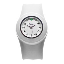 Iconic Travel Slap Watch (White)