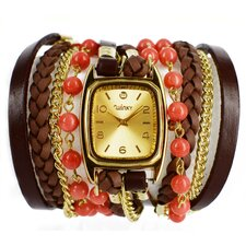 Sweet Dreams Women's Peach Cobbler Wrap Watch