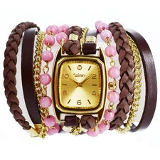 Sweet Dreams Women's Strawberry Shortcake Wrap Watch