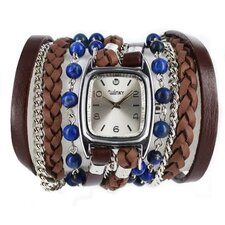 Sweet Dreams Women's Blueberry Cheesecake Wrap Watch