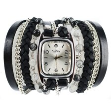 Sweet Dreams Women's Cookies and Cream Wrap Watch