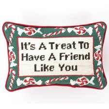 """It's a Treat"" Needlepoint Pillow"