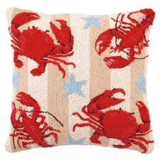 Crab and Lobsters Wool Pillow