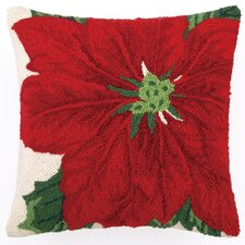 Poinsettia Hook Wool / Cotton Pillow