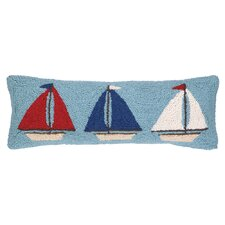 Nautical Hook Sailboat Trio Pillow