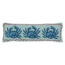 Nautical Hook Three Crabs Pillow