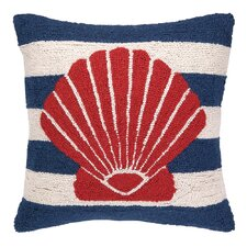Nautical Hook Seashell Stripe Pillow