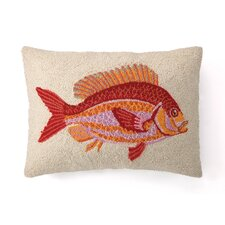 Nautical Hook Speckled Rock Fish Pillow