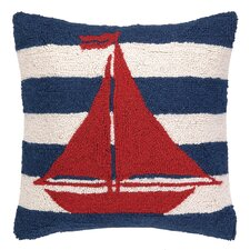 Nautical Hook Sailboat Stripe Pillow
