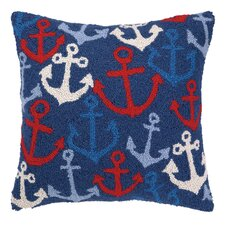 Nautical Hook Anchors Away Pillow
