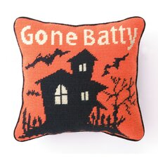 Gone Batty Needlepoint Pillow