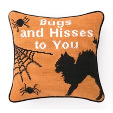 Bugs and Hisses Needlepoint Pillow