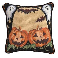 Pumpkin with Ghost Hook Pillow