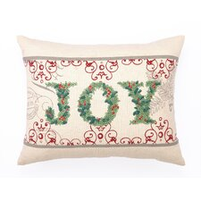 Joy Cotton Pillow with Embroidery