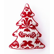 Toile Tree Shaped Wool / Cotton Pillow