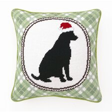 Christmas Dog Wool / Cotton Pillow