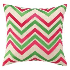 Chevron Embroidered Decorative Throw Pillow