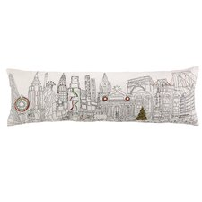 Christmas in NYC Embroidery Pillow