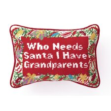 """Grandparents"" Needlepoint Pillow"