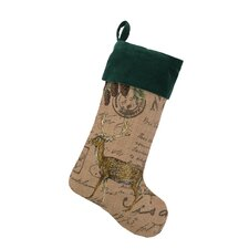 Deer Burlap Stocking