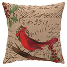 Cardinal Burlap Pillow