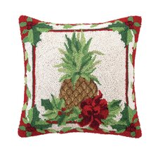 Fruit and Foliage Pineapple Hook Pillow