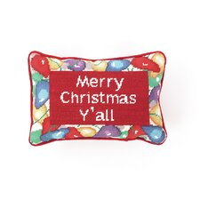 """Merry Christmas Y'All"" Needlepoint Pillow"
