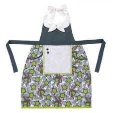 <strong>Peking Handicraft</strong> Floral/Bird Pattern Apron