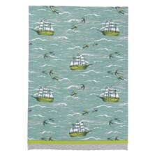 Ship/Birds at Sea Kitchen Towel
