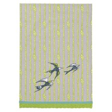 Ship Ropes with 3 Birds Kitchen Towel