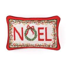 Noel Needlepoint Pillow