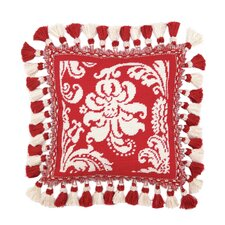 Damask Needlepoint Pillow