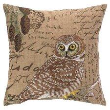 Owl Burlap Pillow