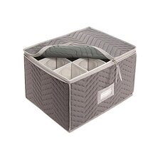 Tabletop Storage Deluxe/Micro Fiber Stemware Chest