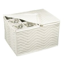 Tabletop Storage Deluxe Stemware Chest