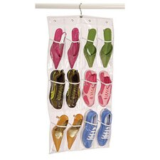 <strong>Richards Homewares</strong> Clear Vinyl Storage 12 Pocket Shoe Caddy with Hanger