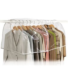 Clear Vinyl Storage Closet Garment Cover
